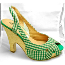 Zapatillas Pleaser Estilo Pin Up Par En Oferta 4mx