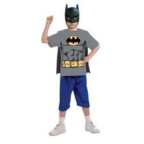 Batman Camisa Con Capa Desmontable Y Máscara Mn4