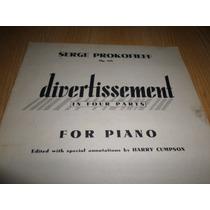 Vendo Libro Partituras Prokofiev Divertissement Op 43b Piano