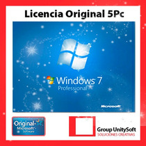 Windows 7 Professional Licencia Original 5 Pc
