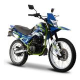 Moto Italika Dm 200 Sport Azul / Verde