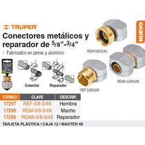 Conector Metalico Reparador Hembra 5/8 -3/4