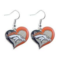 Nfl Denver Broncos 3/4 En Forma De Remolino Corazón Cuelga