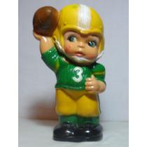 Alcancia Vintage Jugador Futbol Americano Drecuerdo
