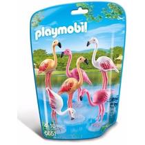 Playmobil 6651 Flamingos Aves Animal Zoologico Retromex
