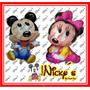 Globo De Minnie Mouse Y Mickey Mouse Bebe De 90 X 50cm