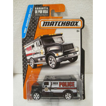 Matchbox Camion Policia Police International Negro 20/120