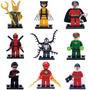 9 Super Hero Deadpool Loki Venom Linter Compatibles Con Lego