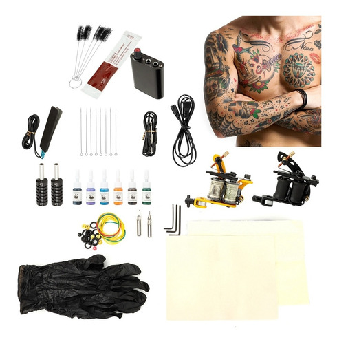 Kit De Suministros Para Tatuar Para Principiantes