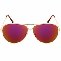 Lentes Gafas Hombre Mujer Aviador Sol Colores Varios Bm