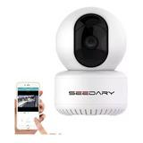Cámara De Seguridad Vigilancia Ip 360 Wifi Hd720p Infrarrojo, P2p Visión Nocturna Compatible Con Ios Y Android Seedary