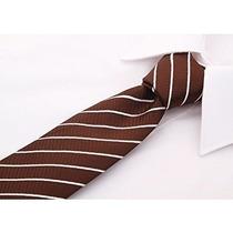 Corbatas Lazo Rayado De Scott Allan Hombres Marrón / Blanco