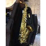Saxofon Alto Laqueado Mercury Mibmol Estuche/envió Gratis
