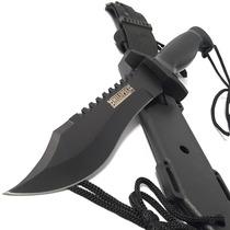 Cuchillo Negro Navaja Tactica Militar Caceria Knife Campismo