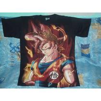 Playera Dragon Ball Z Goku Dios Sayayin Guerra De Los Dioses