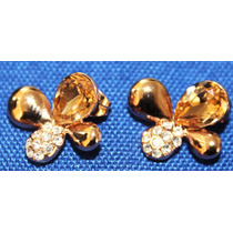 Aretes Golden Mariposa Swarovski Elements