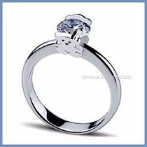 Anillo De Compromiso Diamante Natural .55ct Oro 18k -50% 271