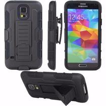 Funda Uso Rudo +mica Blindada Privacidad Galaxy S5 Mini G800