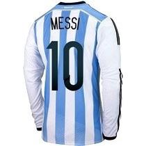 Jersey Argentina Manga Larga 2014 Lionel Messi