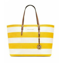 Bolsa Michael Kors Mk Jet Set Travel Stripe 30s3gvst2l