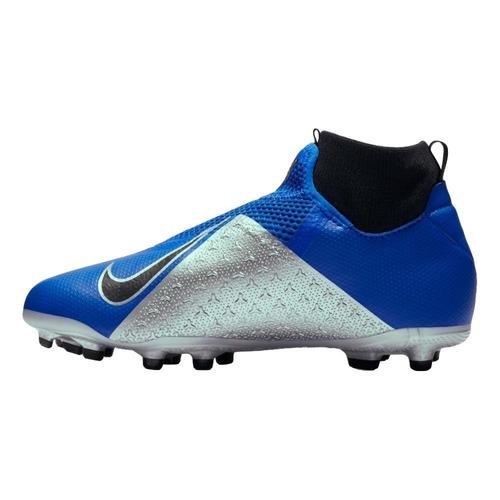 b76145e896ead Botas Nike Phantom Academy Taco Niño Azul Taquete Tachon