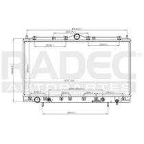 Radiador Dodge Stratus 2000-2001-2002 V6 2.5 Lts Automatico