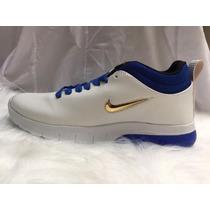 0693eae175a Bota Nike Basquet Blanco Con Azul.plantilla Memory De Regalo en ...