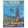 Aviacion Carreras Retro Vintage Letrero Retro Lamina Poster