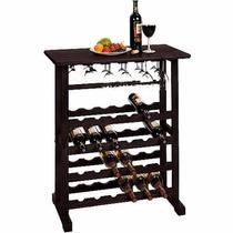 Mueble Porta Vinos Para 24 Botellas Color Espresso