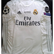 Jersey Real Madrid Ucl Final Conmemorativa En Manga Larga
