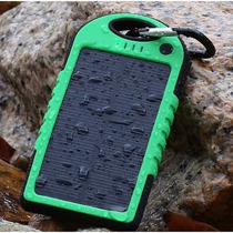 Lote 10 Pzs Cargador Solar Portatil Resiste Agua-5000ma Rudo