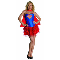 Supergirl Disfraz - Señoras De Las Mujeres Medio 10-12