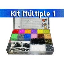 Perler Pixel Art- Kit Múltiple 1 -bases - Pinzas -accesorios