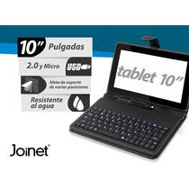 Funda Con Teclado Para Tablet Pc De 10 Pulgadas