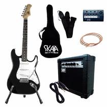 Paquete Guitarra Electrica Stratocaster Skala Accesorios