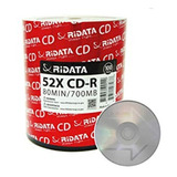 100 Cd-r Virgen Ridata Logo 48x 700mb