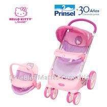 Carriola Con Porta Bebe Muñecas Hello Kitty Prinsel