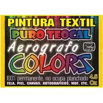 Pintura Textil Permanente Para Aerografo 4.5 Oz