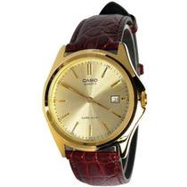 Reloj Casio Mtp1183 Acero Piel Fechador Antirayaduras
