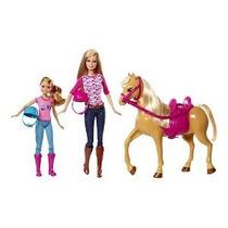 Barbie Pinktastic Hermanas Clases De Equitación