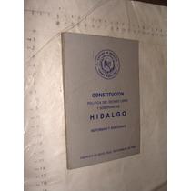 Libro Constitucion Politica Del Estado Libre Y Soberano De H