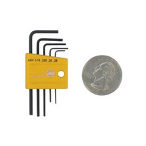 Wiha 35393 Mini Pulgadas Hex L-key Set De 5 Piezas En El Sop