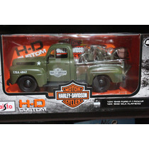 Maisto 1948 Ford F1 Pick Up Harley Davidson 1:24