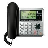 Teléfono Inalámbrico Vtech Cs6649 Negro Y Plateado
