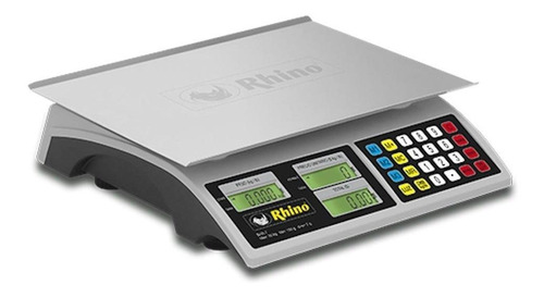 Báscula Comercial Digital Rhino Bar-7 30 Kg 110v Gris