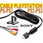 Cable Av Audio Y Video Original Sony Ps1, Ps2, Ps3