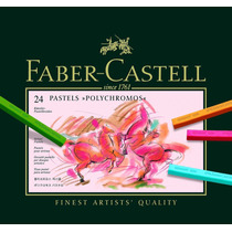 Faber-castell Polychromos Pastels - Set Of 24 - Pasteles