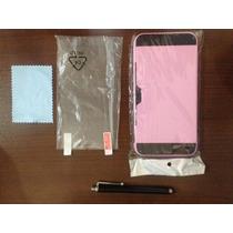 Carcasa Porta Tarjeta Para Iphone 6 Plus, Con Mica Y Pluma