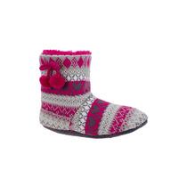 Bota Pantuflas Dama Textil Tejido 134982 Bo1