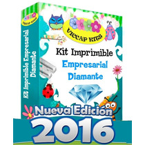 Kit Imprimible Empresarial Diamante 2017 Invitaciones Y Mas